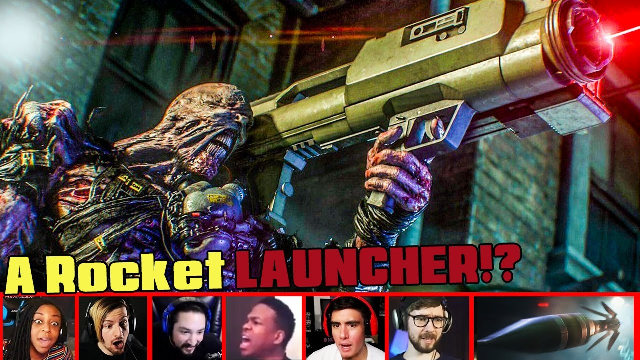 Gamers Reactions To Nemesis With A Rocket Launcher In Resident Evil 3 Remake Mixed Reactions Youtube