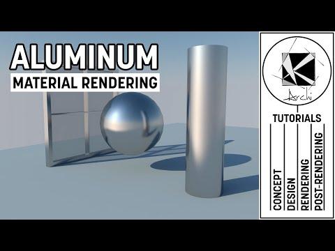 Aluminum Material Tutorial - Vray 2.0 and Sketchup 2016