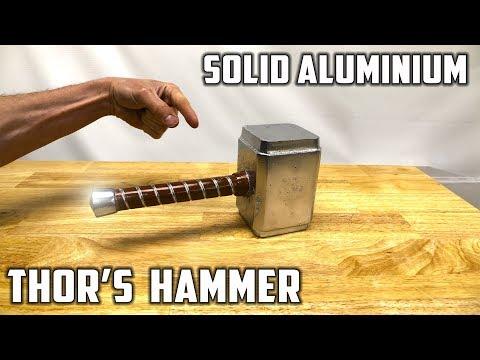 Casting Thor's Hammer from Molten Aluminium Foil Balls - Avengers Infinity War Theme