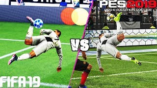 FIFA 19 vs. PES 2019: Fancy Finishing (Scorpion Kick, Bicycle Kick, Rabona  & More) | 4K