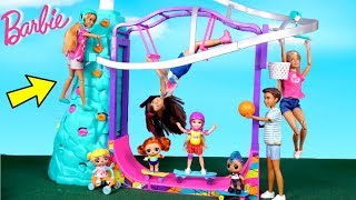 Barbie Doll Family New Outdoor Playground with LOL Goldie & Punk Boi