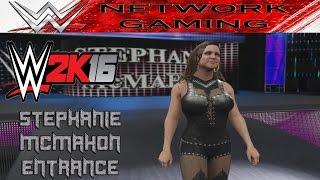 WWE 2K16 Stephanie McMahon Entrance - WWE 2k16 Divas Gameplay PS4 / XBOX ONE
