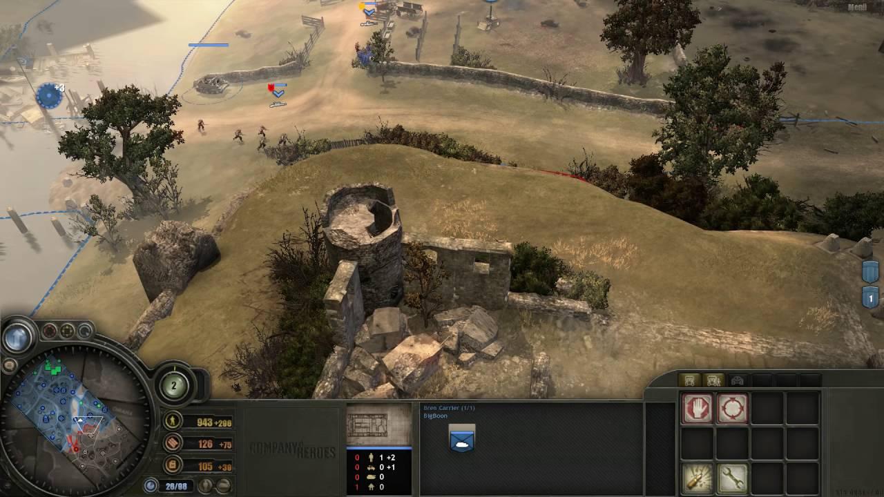 Company Of Heroes 1 Gameplay German 2 Vs 2 Briten Rush