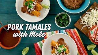 Pork tamales with mole│VIDEO │Kroger