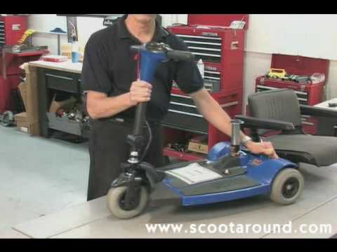 Pride Mobility Scooter >> How to Disassemble a Pride Sonic Scooter for Transport - YouTube