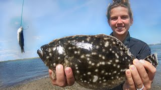 Best Bait For Floขnder Fishing: How To Catch Flounder With Live Bait [Catching Fluke From Shore]