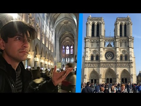 Inside Notre Dame Cathedral! Paris France sometimes vlog