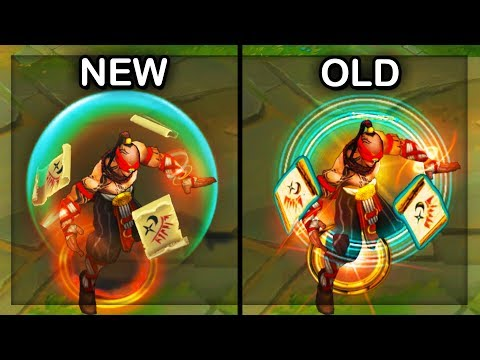 All Lee Sin Skins NEW and OLD Comparison Visual Effects Update (VFX) 2018 - League of Legends