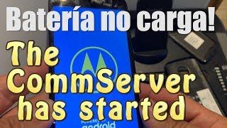 BATERIA NO CARGA The Commserver has started Motorola Moto E5 Go E5 Plus Play G6 Verizon
