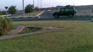 mercedes g55 on two wheels in dubai