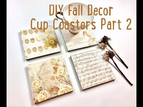 Live, DIY Fall Decor/How to make Coasters Part. 2