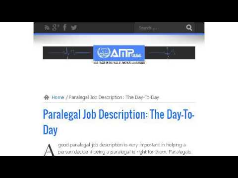 Bankruptcy Paralegal Job Description