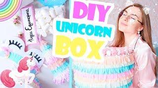 DIY Unicorn Box * Единороги * Единорожная коробка с подарками внутри * Bubenitta
