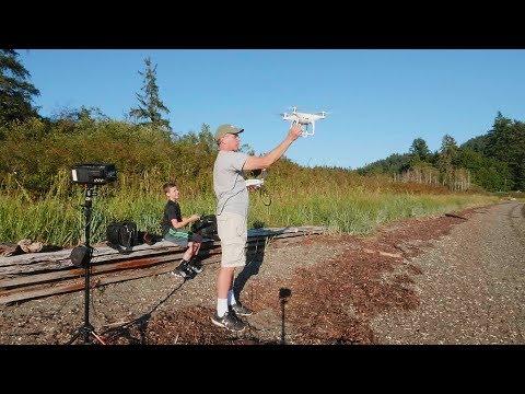 Screen Recording Phantom 4 Pro + Plus with Atomos Shogun  Bellingham WA in 4K