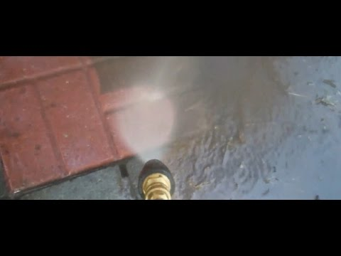 Pressure Washing my Stone Patios (Part 1)