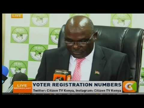 Chebukati : Voter registration numbers