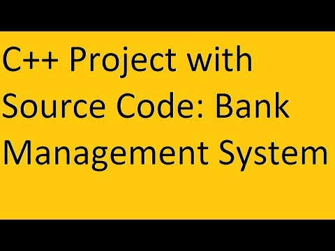 C++ Project with Source Code: Bank Management System(Cool Features)(HD)