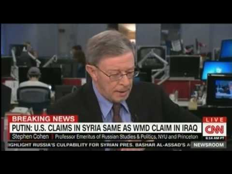 CNN guest goes off message stating Assad did not use Chemical Weapons  Host quickly shuts him down