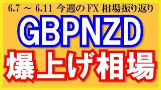 【GBPNZD爆上げ相場】6月7日~6月11日の相場振り返り&来週の見通し・シナリオ予想【トレード解説】