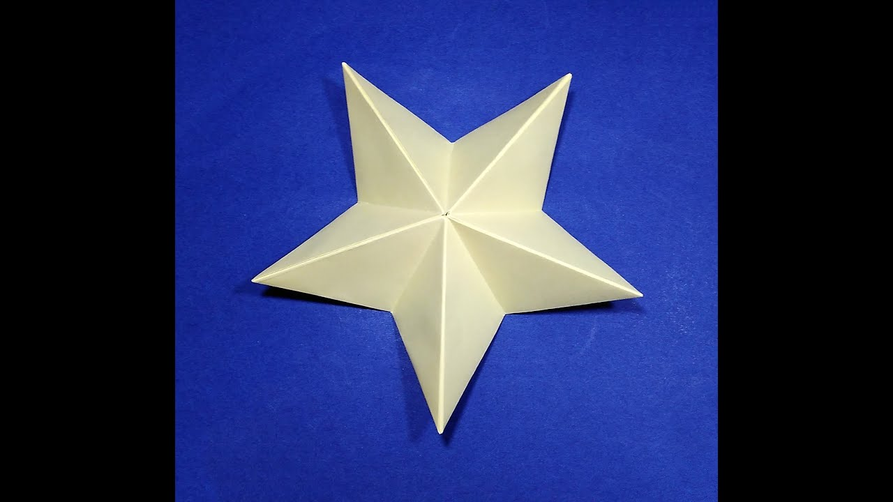 origami christmas star easy paper star youtube
