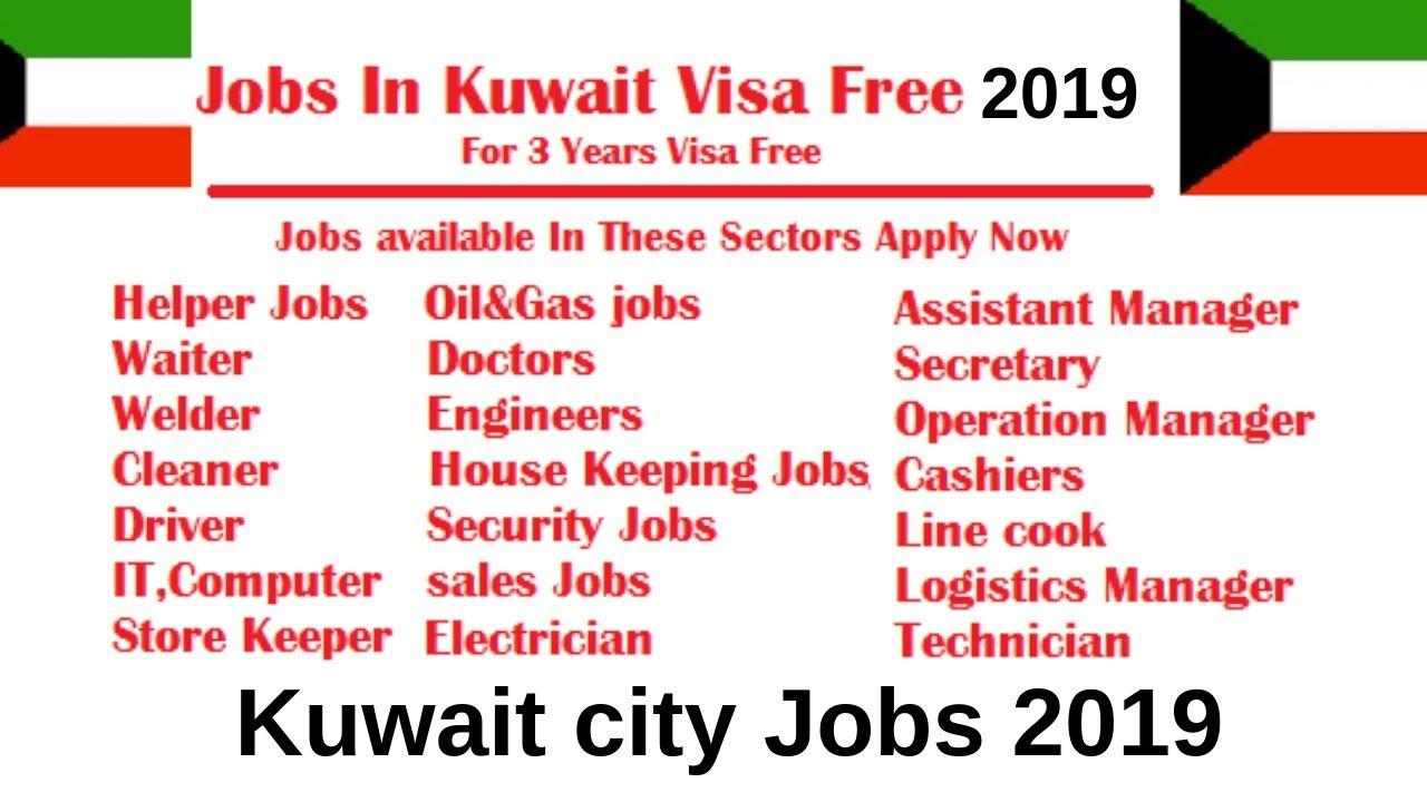 Kuwait city jobs // Feb 2019 // Salary 130-900 KD