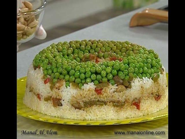 قالب الأرز بالكبدة والمشروم - مطبخ منال العالم