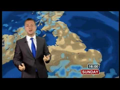 Tomasz Schafernaker says Eyjafjallajökull twice in his 5-day weather forecast (BBC News, 16.5.10)