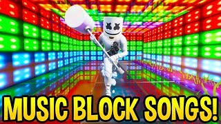 *AMAZING* Fortnite SONG CREATIONS Using the *NEW* Music Blocks! (Creative Mode)