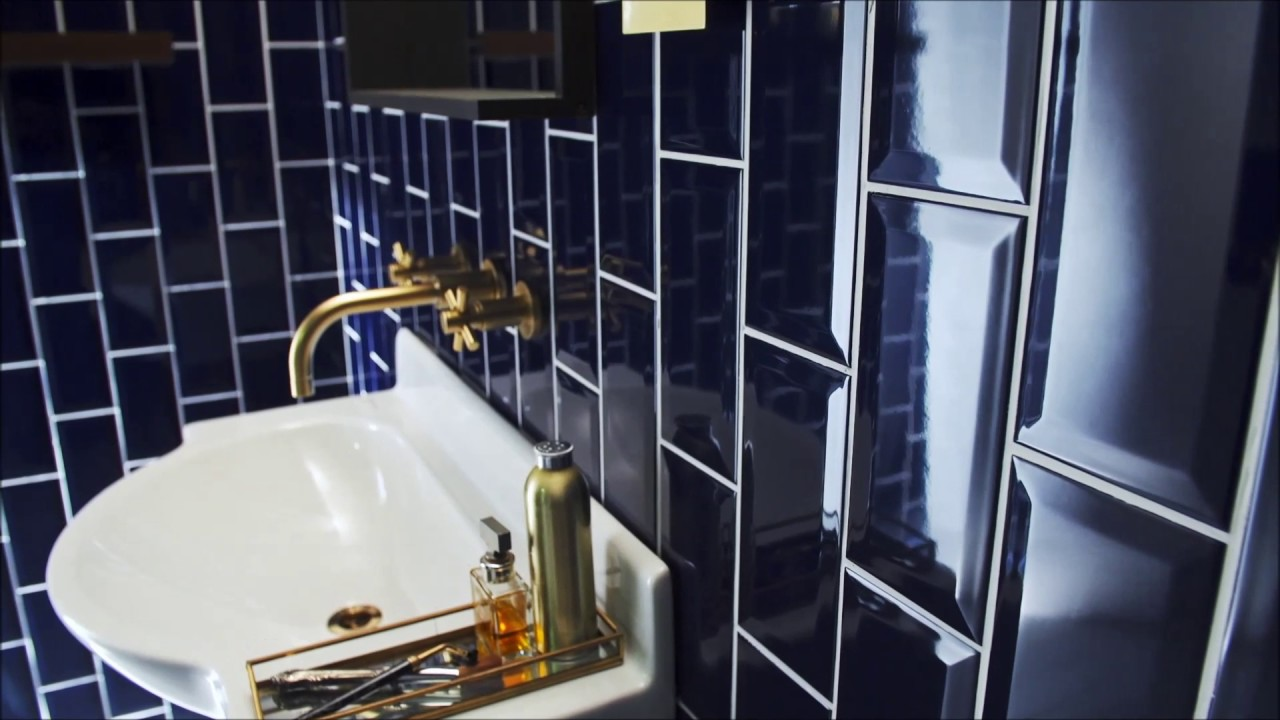 Metro blue ceramic tiles by Topps Tiles - YouTube