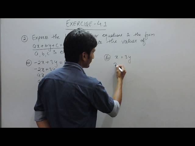 chapter 4 ex 4.1 Q 2 (iii,iv) - Linear Equations in Two Variables class 9 maths ncert solutions