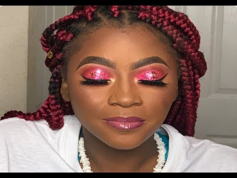 Hot Pink Glitter For Teens Sweet 16 Makeup Becks E Youtube