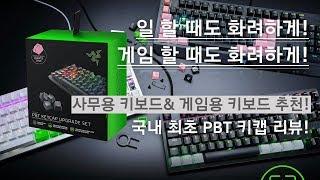 사무용 & 게이밍 키보드 추천 그리고 PBT 키캡 리뷰!(Feat. RAZER Blackwidow Lite, Huntsman TE, PBT KeyCaps)