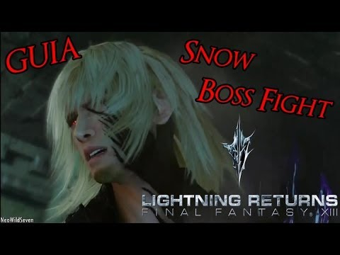 Guia Lightning Returns FFXIII - Snow Boss Fight Facil Como Matarlo Mejores Trajes Habilidades