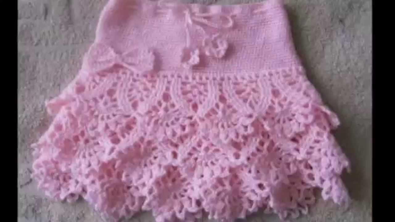 Faldas tejidas a crochet para niñas - YouTube