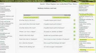 French for beginners - www.einfranzose.de with Google Translator
