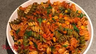 Indian Style pasta Recipe | Masala Pasta Desi Style | Spicy Masala Pasta | Indian Style Veg Pasta