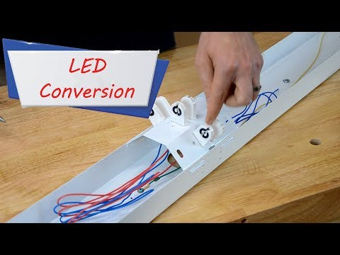 How to easily convert fluorescent Lights to LED – Conversions Tutorial - Easy Ways to Save Money