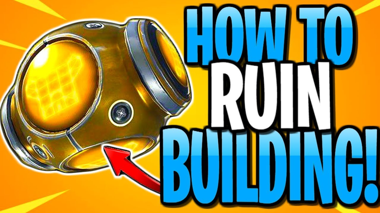 How To Ruin Building In Fortnite Port A Fortress New Item Youtube
