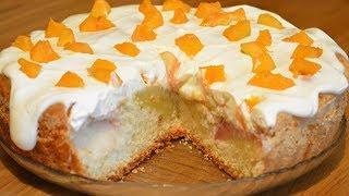Нежный пирог с персиками)) Почти торт