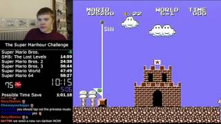 (56:17) The Super Marihour Challenge - 6 games in 60 minutes!