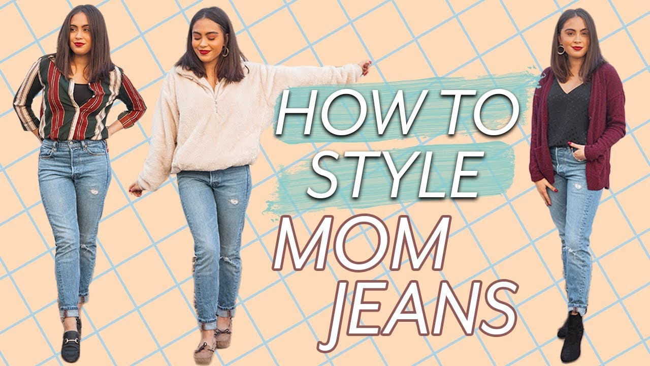 7 WAYS TO STYLE MOM JEANS // MOM JEANS OUTFIT IDEAS ♡ 2
