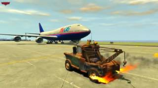 Lightning McQueen Mack Truck Chick Hicks Tow Mater Disney cars Airport furious ramp