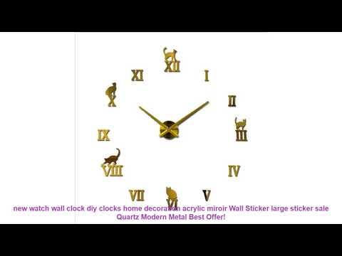 new watch wall clock diy clocks home decoration acrylic miroir Wall St