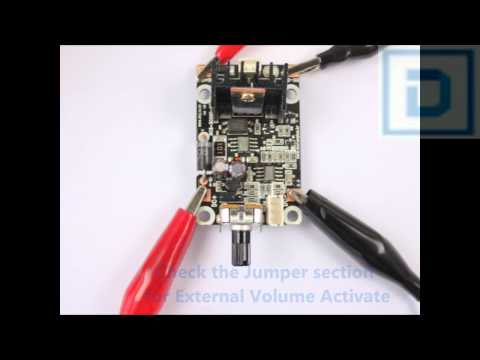 DC 12V motor speed control using external volume
