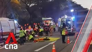1 dead, 16 lorry passengers taken to hospital after PIE accident