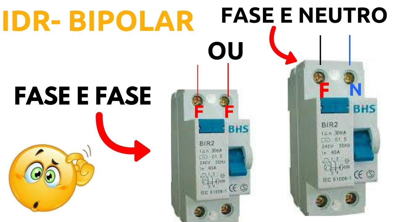 Dr bipolar fase e neutro ou fase e fase youtube for Fase e neutro colori