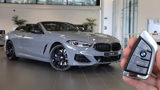 BMW M850i Convertible NARDO GREY INDIVIDUAL SOUND \u0026 VISUAL REVIEW