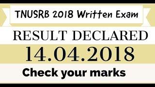 TNUSRB written Exam Result 2018