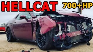 Rebuilding a Wrecked 2018 Widebody Challenger Hellcat Part 1