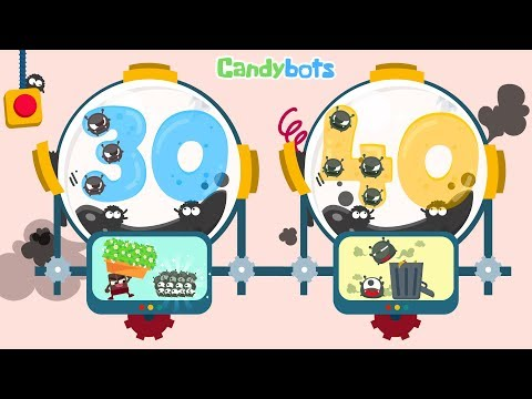 Thumbnail: Candybots Numbers 123 - Learn counting 30 to 40 number - Education Apps for Kids